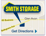 Map and Directions to Riverside Smith Self Storage Unit Facility